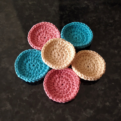 Face scrubbie crochet, face scrubber, face pad, cotton, ecofriendly,
