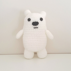 Ice bear crochet plush, We Bare Bears, polar bear amigurumi, christmas gift kids
