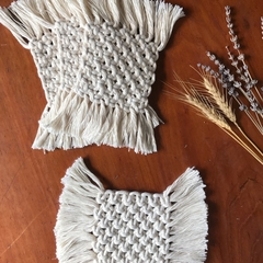Macrame coasters - set of four