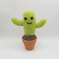 Cactus Crochet Plant, cacti amigurumi, home decor, kawaii cactus