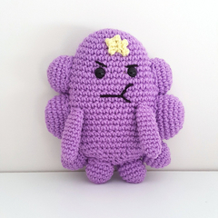 LSP, Lumpy Space Princess crochet plush, Adventure Time
