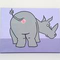 Bobs Burgers Aunt Gayle Rhino Anus Painting-  20 x 25 cm, funny christmas art