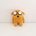 Pocket sized Jake the Dog crochet plush, keyring, keychain, Adventure Time