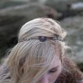 Copper Filigree Boho Beaded Hair Chain Jewellery