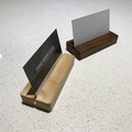 Father's Day Sale!!  Takaha - Wooden Business Card Stand    