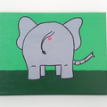Bobs Burgers Aunt Gayle Elephant Anus Painting- 20 x 25 cm, funny christmas gift