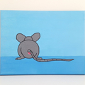 Bobs Burgers Aunt Gayle Mouse Anus Painting-  20 x 25 cm, funny christmas art