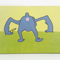 Choose 3 Bob's Burgers animal anus paintings- Made to order and 20 x 25 cm, wall