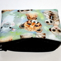 Small Coin Purse in Cute Meerkat, Hippo and Cheetah Fabric