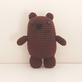 Grizz crochet plush, We Bare Bears, grizzly, brown bear toy, christmas gift kids