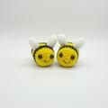 Mini Bee crochet plush amigurumi keychain keyring toy, christmas gift