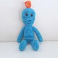 Mr Meeseeks Crochet Plush Doll, Rick and Morty