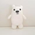Ice bear crochet plush, We Bare Bears, polar bear amigurumi, christmas gift kids