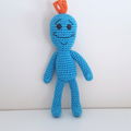 Mr Meeseeks Crochet Plush Doll, Rick and Morty