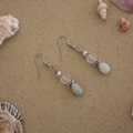 Aquamarine Gemstone Nugget Earrings