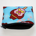 Small Coin Purse in Colourful Bubble O Bill Fabric - Large scale print