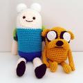 Jake the Dog crochet plush, Adventure Time, Adventure time plush