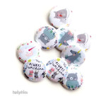 Cute animal button badge party favours