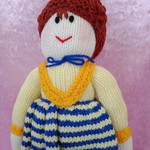 Hand Knitted Doll - Miss Christobel