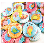 Sweet Bird button badge party favours