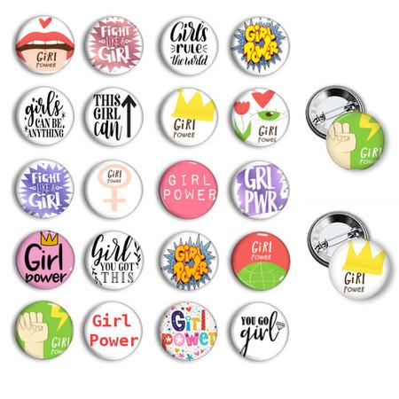 Girl Power button badges