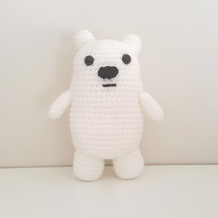 CROCHET PATTERN: We Bare Bears Inspired Baby Bear | We bare bears ... | 698x700