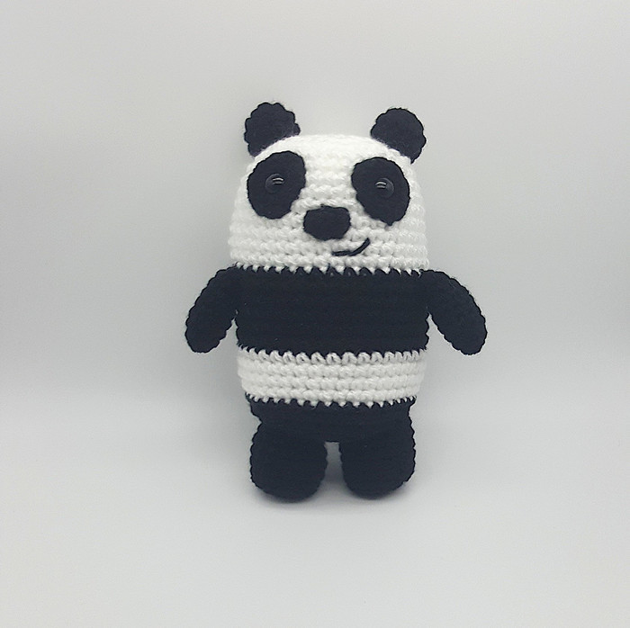 Cute panda toy Mini animal Crochet panda amigurumi Miniature toy ... | 698x700