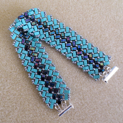 Pretty Tile Bracelet in Herringbone Pattern