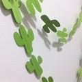 Green Cactus Garland. Fiesta, first birthday party decor. Wild one, baby shower.