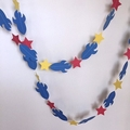 Rocket Space Party Garland. Baby shower, first birthday party. Space stars.