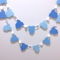 Blue Baby garland. Little boy blue, bunting, blue ombre, baby shower banner.