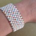 White and Multi Colour Cuff Bracelet