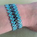 Pretty Tile Bracelet in Herringbone Pattern