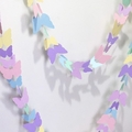 Pastel Butterfly Garland. Butterflies First birthday, baby shower, party decor.