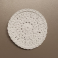Set of 5 WHITE reusable face wipes, makeup remover pads, scrubbies