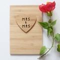 Mrs & Mrs Wedding Card, Bamboo Card, Bride Card, Mrs and Mrs, Anniversary Card