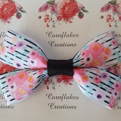 Handmade Modern Floral Bow FREE POSTAGE