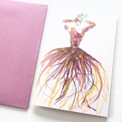 Junior Artist Blank Art Card Irises Fashion Card