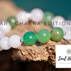 Heart Chakra Gemstone Bracelet, Seven Chakras Edition Bracelet.