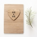 Mr and Mr Wedding Card Gift Bamboo Anniversary Love