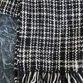 "Black and White ""Houndstooth"" Scarf"