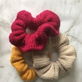 Knitted scrunchies. 