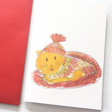 Junior Artist Blank Art Card Linus the Cat