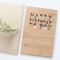 Happy Birthday Bamboo Card, Birthday Card For Him, Birthday Card For Her