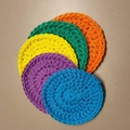 Set of 5 BRIGHT COLOURED reusable face wipes, makeup remover pads, scrubbies