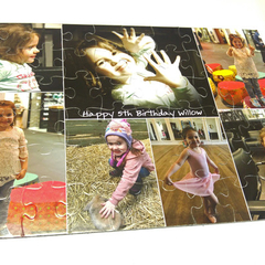 Personalised Jigsaw Puzzle 60 piece 100% Australian Made + free text added