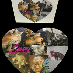 Personalised Jigsaw Puzzle HEART SHAPE 80p 100% Australian Made +free text added
