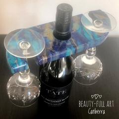Resin Art Wine Caddy