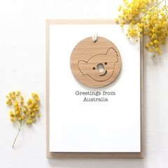 Koala removable decoration card Australia