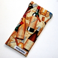 Padded Sunglasses Pouch in Wine Bottle Fabric